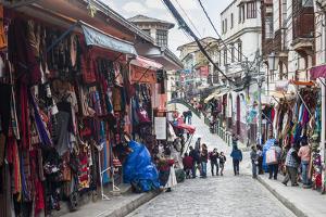 Street Market in La Paz, La Paz Department, Bolivia, South America by Matthew Williams-Ellis