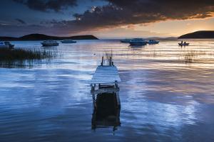 Sunrise at Lake Titicaca, Challapampa, Isla Del Sol (Island of the Sun), Bolivia, South America by Matthew Williams-Ellis