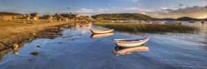 Sunrise in the Harbour at Challapampa Village, Lake Titicaca, Bolivia by Matthew Williams-Ellis