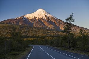 Sunset at Osorno Volcano, Vicente Perez Rosales National Park, Chilean Lake District, Chile by Matthew Williams-Ellis