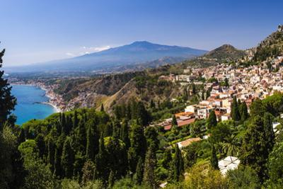 Taormina and Mount Etna Volcano Seen from Teatro Greco (Greek Theatre) by Matthew Williams-Ellis