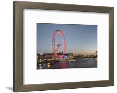 The London Eye at Night Seen from Golden Jubilee Bridge, London, England, United Kingdom, Europe