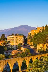 Top of Mount Etna Volcano at Sunrise Rising Above Taormina, Sicily, Italy, Mediterranean, Europe by Matthew Williams-Ellis