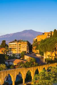 Top of Mount Etna Volcano at Sunrise Rising Above Taormina, Sicily, Italy, Mediterranean, Europe by Matthew Williams-Ellis