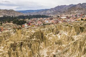 Valle De La Luna (Valley of the Moon) and Houses of the City of La Paz, La Paz Department, Bolivia by Matthew Williams-Ellis
