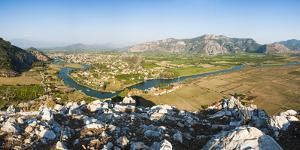 View over Dalyan River from the ancient ruins of Kaunos, Dalyan, Anatolia, Turkey Minor, Eurasia by Matthew Williams-Ellis
