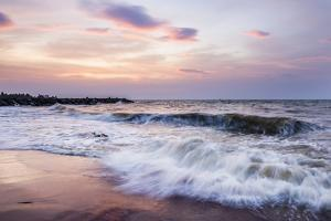 Waves Crashing on Negombo Beach at Sunset, West Coast of Sri Lanka, Asia by Matthew Williams-Ellis