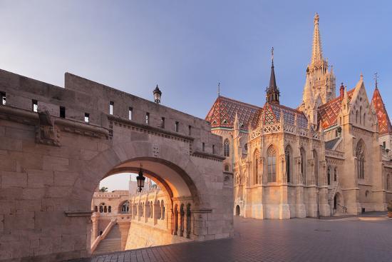 Matthias Church, Fisherman's Bastion, Buda Castle Hill, Budapest, Hungary, Europe-Markus Lange-Photographic Print