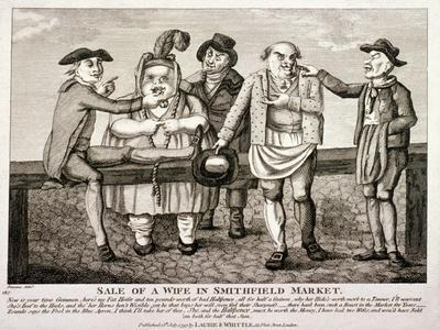 Wife Being Sold at Smithfield Market, London, 1797