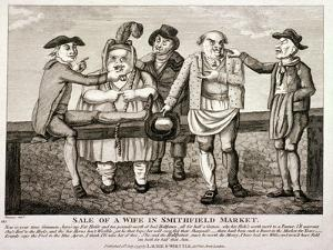 Wife Being Sold at Smithfield Market, London, 1797 by Matthias Finucane