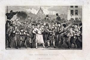 Wife Being Sold at Smithfield Market, London, C1820 by Matthias Finucane