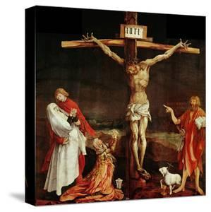 Crucifixion, a Panel from the Isenheim Altar, Limewood (Around 1515) by Matthias Gr?newald