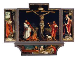 Isenheimer Altar. Erste Schauseite, Totale: die Hll.Antonius Und Sebastian by Matthias Gr?newald