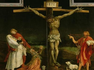 The Crucifixion, from the Isenheim Altarpiece, circa 1512-15 by Matthias Gr?newald