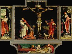 The Isenheim Altar, Closed, circa 1515 by Matthias Gr?newald