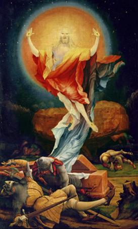The Resurrection of Christ, from the Isenheim Altarpiece circa 1512-16 by Matthias Gr?newald