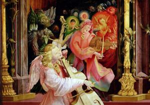 Angel Musicians, from the Concert of Angels from the Isenheim Altarpiece, circa 1512-16 by Matthias Grünewald