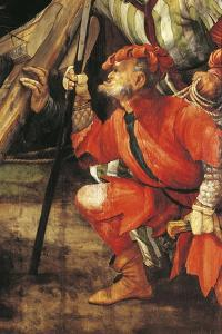 Armed Thug, Ca 1523-1525, Detail from Ascent to Calvary of Tauberbischofsheim Altarpiece by Matthias Grünewald