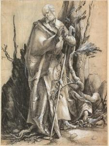 Bearded Saint with Walking Stick, C. 1516 by Matthias Grünewald