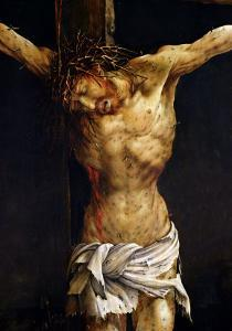 Christ on the Cross, Detail from the Central Crucifixion Panel of the Isenheim Altarpiece by Matthias Grünewald