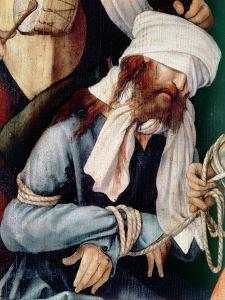 Detail of the Mocking of Christ by Matthias Grünewald