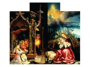 Isenheim Altar: Allegory of the Nativity by Matthias Gruenewald