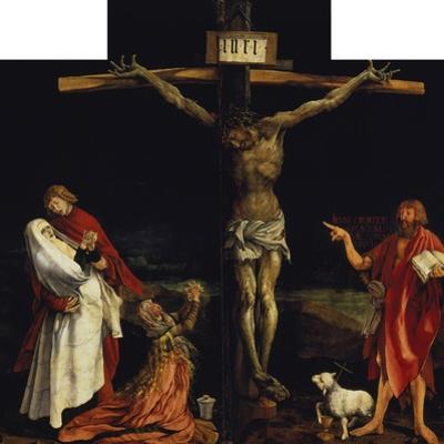 Isenheimer Altar. First Right Side, Centre Panel: Crucifixion by Matthias Grünewald