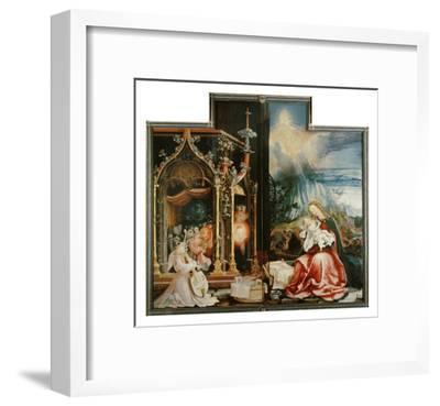Isenheimer Altar. Inner Center Panel: Angel Concert and Nativitiy