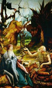 Saint Anthony Visits Saint Paul the Hermit by Matthias Grünewald