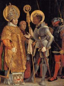 Saint Erasmus and Saint Maurice by Matthias Grünewald