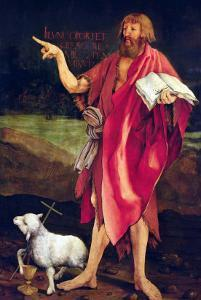 St. John the Baptist from the Isenheim Altarpiece, circa 1512-16 by Matthias Grünewald