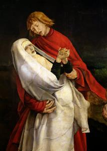 St. John the Evangelist and the Virgin, Detail from the Crucifixion from the Isenheim Altarpiece by Matthias Grünewald