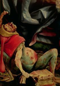 Suffering Man, Detail from the Reverse of the Isenheim Altarpiece, circa 1510-15 by Matthias Grünewald