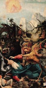 Temptation of St. Anthony, from the Isenheim Altarpiece, circa 1512-16 by Matthias Grünewald