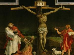 The Crucifixion, from the Isenheim Altarpiece, circa 1512-15 by Matthias Grünewald