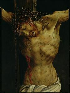 The Crucifixion from the Isenheim Altarpiece, Detail of Christ's Torso, circa 1512-16 by Matthias Grünewald
