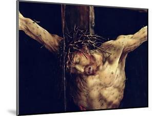The Face of Christ, Detail from the Crucifixion from the Isenheim Altarpiece, circa 1512-16 by Matthias Grünewald