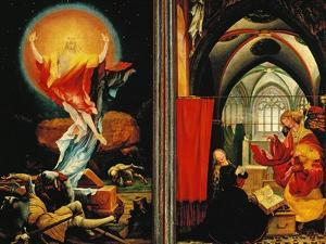 The Isenheim Altar: Christ Resurrection, Annunciaton, Limewood, Around 1515 by Matthias Grünewald