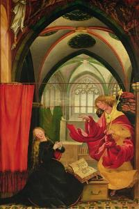 The Isenheim Altarpiece, Left Wing: Annunciation by Matthias Grünewald