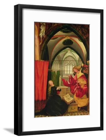 The Isenheim Altarpiece, Left Wing: Annunciation