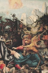 The Isenheim Altarpiece, Right Wing: the Temptation of Saint Anthony by Matthias Grünewald