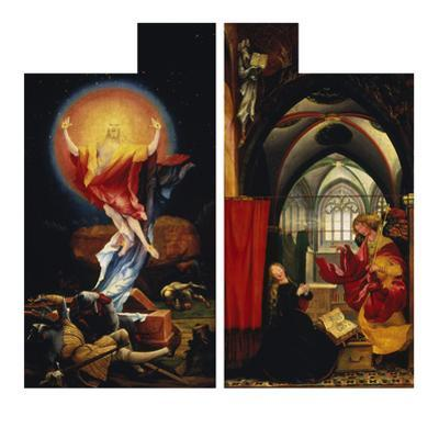 The Resurrection of Christ andAnnunciation. fromLeft and Right Wing ofIsenheim Altarpiece by Matthias Grünewald