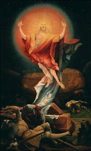 The Resurrection of Christ, from the Isenheim Altarpiece, C.1515 (Detail) by Matthias Grünewald
