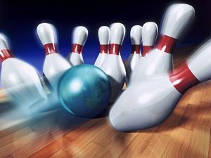 A Bowling Strike by Matthias Kulka