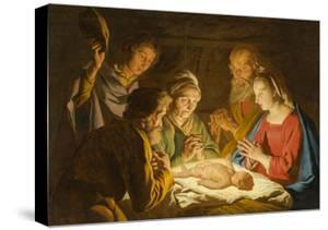 The Adoration of the Shepherds, c.1635-1637 by Matthias Stomer