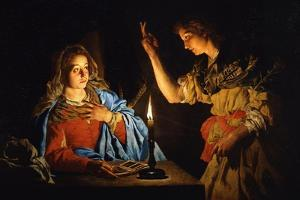 The Annunciation, Early 17th C by Matthias Stomer