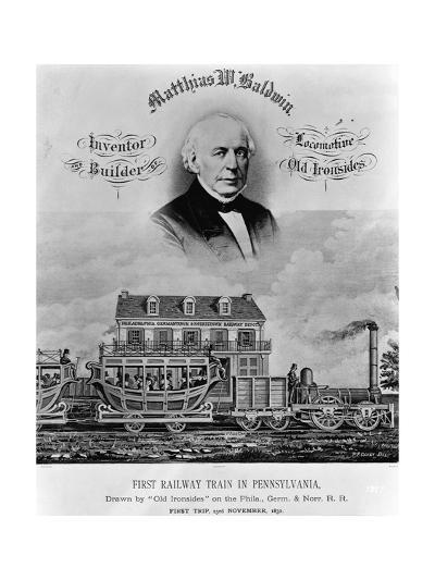 Matthias W. Baldwin, Inventor and Builder, Locomotive 'Old Ironsides'-P. F. Goist and Frederick Gutekunst-Giclee Print