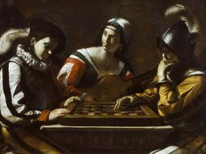 The Game of Draughts, 1630s by Mattia Preti