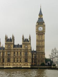 Big Ben Clock Tower and Parliament Seen from across the Thames River by Mattias Klum