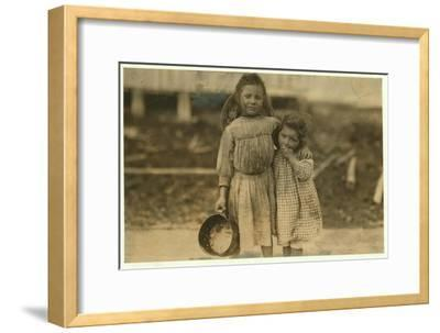 Maud and Grade Daly-Lewis Wickes Hine-Framed Photographic Print